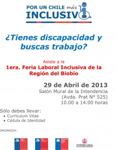 Afiche-1era feria laboral de inclusión laboral