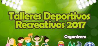 Inician Talleres Deportivos y Recreativos 2017