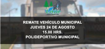JUEVES 24 REMATE DE VEHÍCULO MUNICIPAL