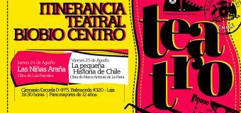 LAS NIÑAS ARAÑAS Y LA PEQUEÑA HISTORIA DE CHILE, SE PRESENTAN EN LAJA