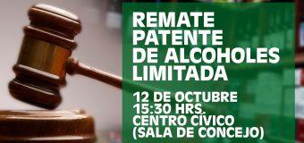 REMATE PATENTE DE ALCOHOLES LIMITADA