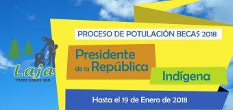 Hasta el 19 de enero se extiende plazo para Postulación de Becas Presidente de la República e Indígena 2018