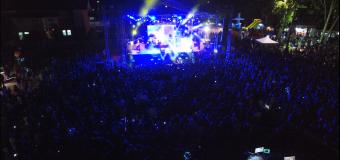 Laguna La Señoraza escenario de Show en vivo y fuegos artificiales