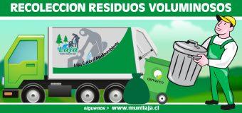 DIMAAO informa nuevo Retiro de Residuos Voluminosos