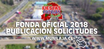 LISTADO SELECCIONADOS PARA PARTICIPAR RAMADA OFICIAL LAJA 2018