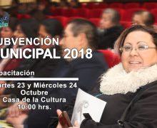 Municipalidad de Laja informa: Próxima Capacitación Subvención Municipal 2019