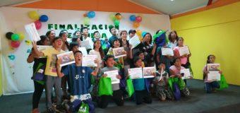 Finaliza Escuela Abierta de Verano en sector de Santa Elena