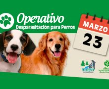 23 DE MARZO: OPERATIVO DE DESPARASITACIÓN DE PERROS EN SECTOR RURAL