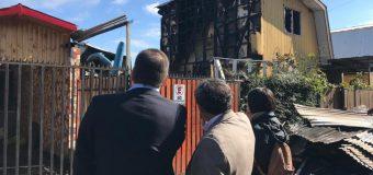Autoridades comprometieron agilizar los procesos para ayudar a familias damnificadas por incendio en Laja