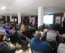 Agricultores de Laja participaron en capacitación sobre el cambio climático en la Casa de Botes.
