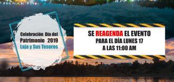 Municipio lajino informa SUSPENSIÓN Celebración Día del Patrimonio