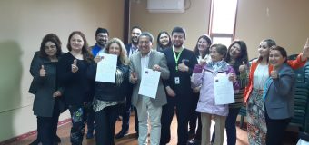 Alcalde de Laja firma compromiso con Consejo Comunal de la Discapacidad