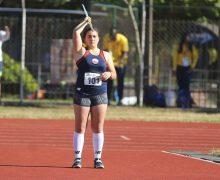Deportista lajina es campeona sudamericana en el lanzamiento de la jabalina