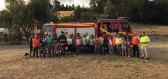 Simulacro de incendio forestal se realizó en los sectores de Santa Ana, Peñablanca y El Mirador