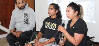 Katherinne Wollermann y Robinson Méndez se lucieron con charla y muestra deportiva