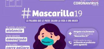 Ministerio de la Mujer lanza «mascarilla 19»: la palabra clave para mujeres que viven violencia durante la pandemia