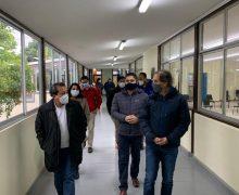 Autoridades regionales y provinciales visitan avance de obras Colegio San Jorge