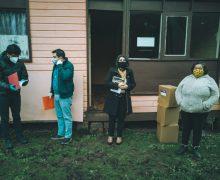 Kit sanitario fue entregado a vecinos de Carrera, Chacabuco y Diuquín