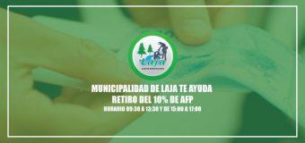 Municipio lajino asesorá para el retiro del 10%