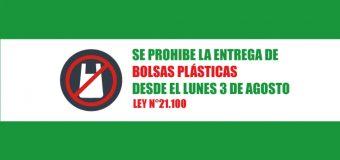 LUNES 03 DE AGOSTO: Inicia la prohibición de entrega de bolsas plásticas