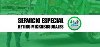 VIERNES 14 DE AGOSTO: Servicio especial retiro de microbasurales