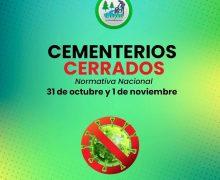 Minsal determina el cierre de cementerios 31 de octubre y 1 noviembre