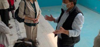 Alcalde y representantes de las agrupaciones mayores visitan obra del Centro Integral de Laja