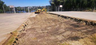Comenzaron las obras de habilitación de cancha de voleibol playa