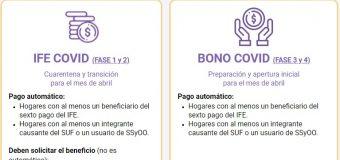 Abrieron postulaciones para recibir en abril el Ingreso Familiar de Emergencia y Bono Covid