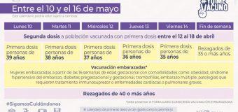 Así será el proceso de vacunación influenza y Covid-19 de la semana del 10 de mayo