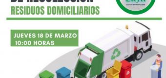 Servicio operativo residuos voluminosos jueves 18 de marzo 2021