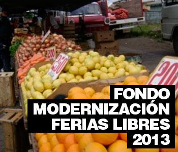 FONDOS MODERNIZACIÓN FERIAS LIBRES 2013