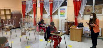 Cerca de 400 estudiantes volvieron a clases en forma presencial en Laja