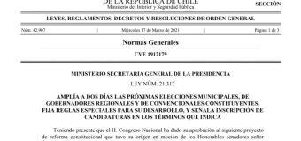Elecciones se realizarían en dos días: el 10 y 11 de abril