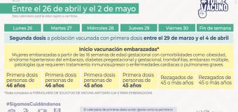 Este lunes se inicia vacunación contra el Covid-19 a embarazadas