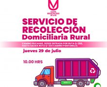 Nuevo recorrido recolección rural «Ruta camino Rucahue»: